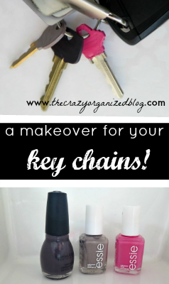 I love to organize and that extends to my key chain! This simple and fun key chain organization project even includes a beauty product!