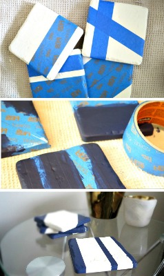 Don't buy new coasters, MAKE them! Incredibly simple DIY coasters create a decorative touch to any room as well as excellent gifts!
