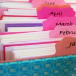 Greeting Card Organizer for Every Month!